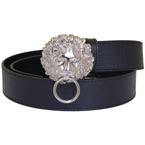 Versace Versus versace versus silver buckle plain leather belt