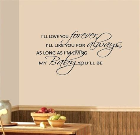 i ll you forever my baby you ll be nursery wall say