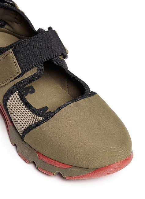 sneakers with velcro straps marni velcro mesh neoprene sneakers in green lyst