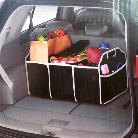 Bk264 Black Auto Car Organizer Collapsible Black Car Trunk Organizer Toys Food Storage