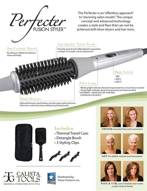 Perfecter Fusion Hair Styler by Perfecter Fusion Styler For Instant Hair Shine Volume And