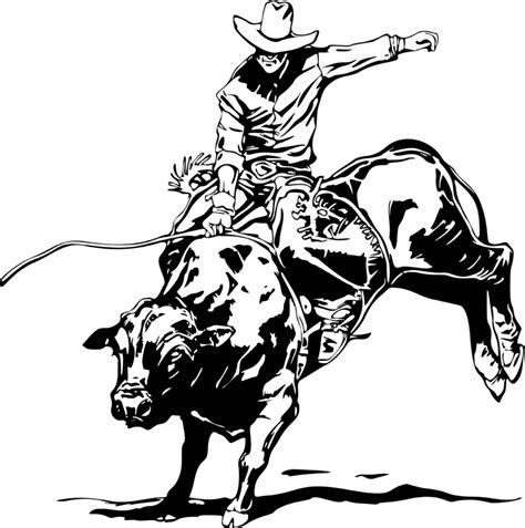 free coloring pages of bullriding