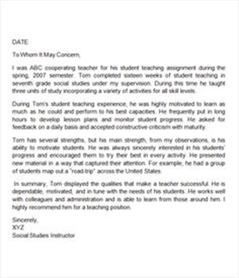 Recommendation Letter For Substitute Position This Is A Letter Of Recommendation For A Intern Who Has Just Graduated From College It
