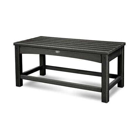 black outdoor coffee table trex outdoor furniture rockport club charcoal black patio