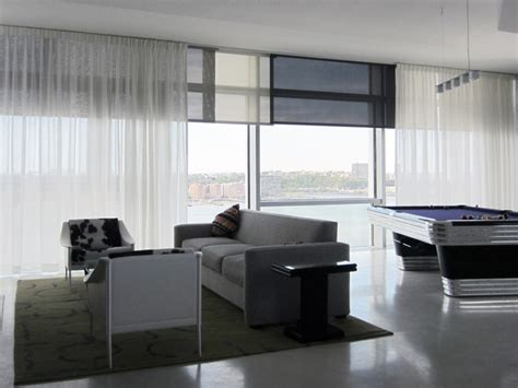 modern window treatments for living room billiard room window treatments modern living room