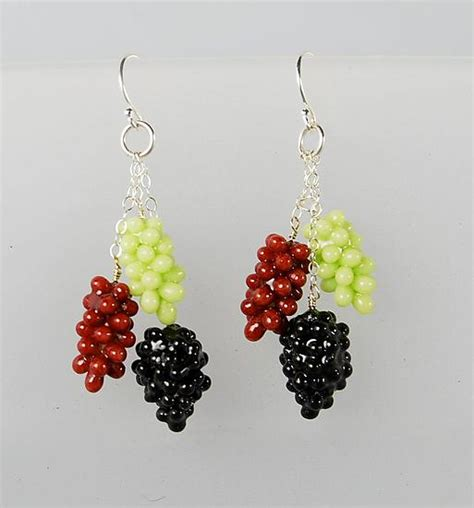 Free Home Decor Catalogs by Grape Cluster Earrings By Carolyn Tillie Silver Amp Polymer