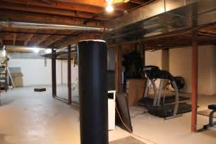 How To Paint Exposed Ceiling by Basement Remodel With Painted Exposed Ceiling