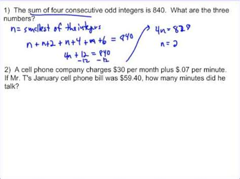 multi step equation word problems youtube