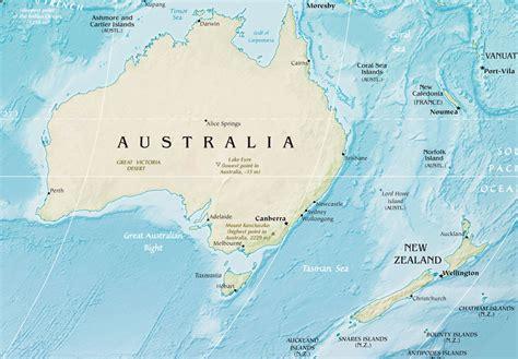 map of australia and nz australia and new zealand mapsof net