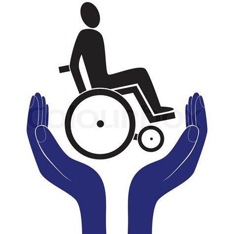 Behinderte ungültig Pflege Zeichen Vektor Schutz Schild