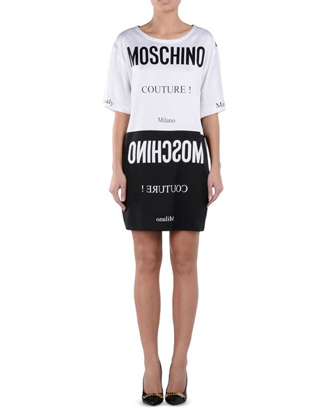 An Dress Moschino by Lyst Moschino Dress In Black