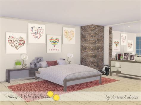 the sims 4 bed cc arwenkaboom s sunny side bedroom