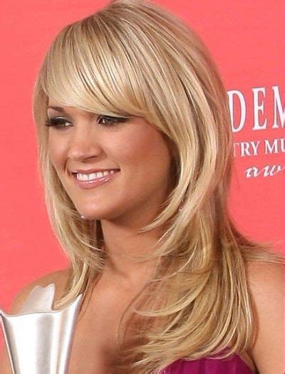 framed face hairstyles with bangs face framing layers with side swept bangs haircut bangs