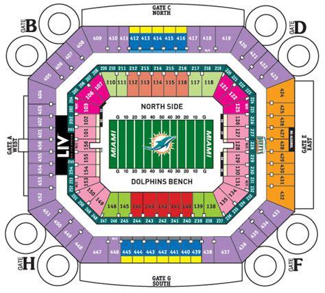 dolphin stadium seats sunlife stadium seating chart sun stadium concert
