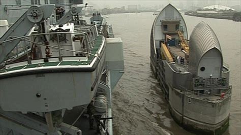thames barrier improvements bbc news uk illustrious squeezes up thames