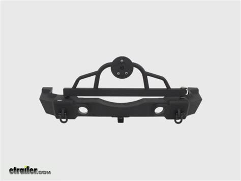 hitch mounted spare tire carrier swing away rage rear recovery bumper for jeep swing away spare