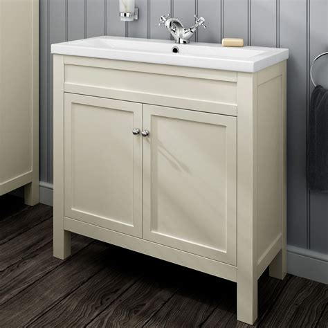 Traditional Cream Bathroom Vanity Unit Basin Sink Traditional Bathroom Furniture