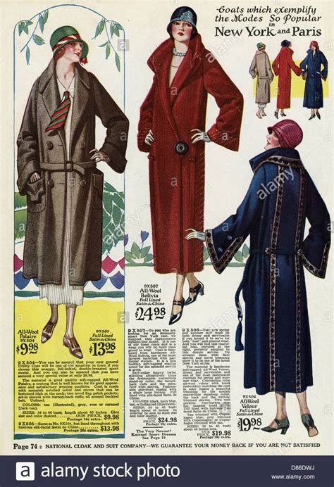 clothing style 1924 american ladies coat fashion 1924 stock photo royalty