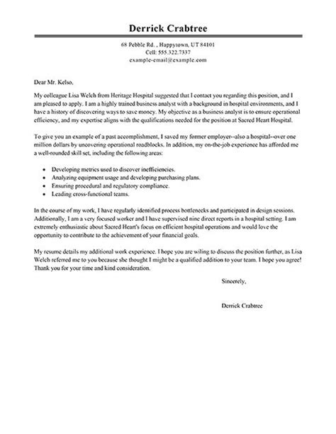 Cover Letter Exles Business Analyst Big Business Analyst Cover Letter Exle I Work Stuff Cover Letter Exle