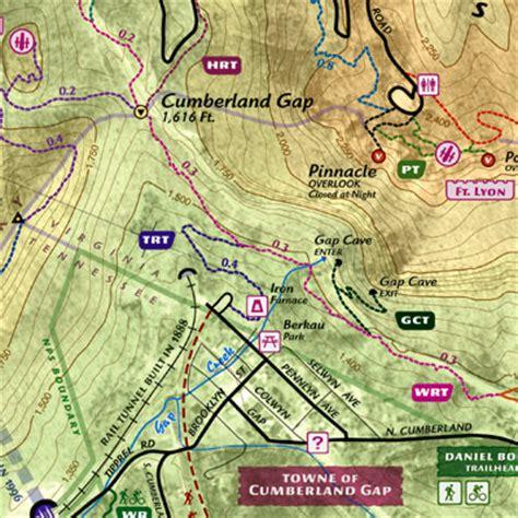 cumberland trail map cumberland gap national park trail guide