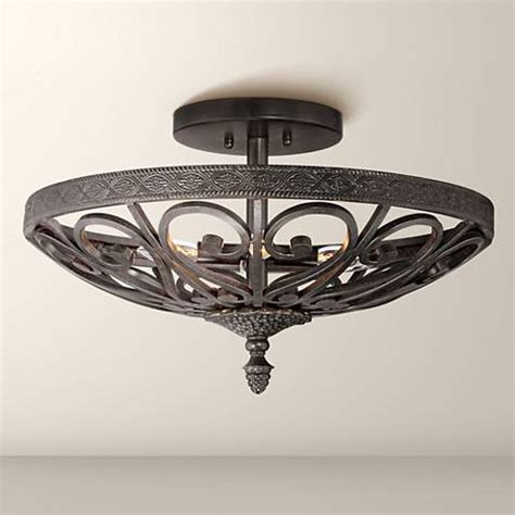 Kathy Ireland La Romantica Black Iron Ceiling Light Black Iron Ceiling Lights