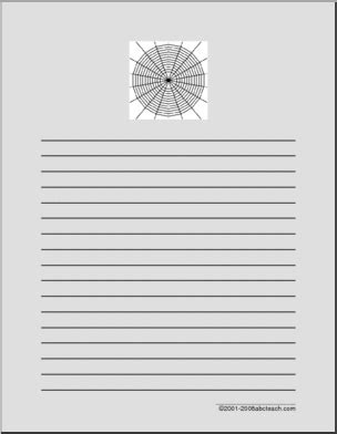 Writing Paper Spider Elementary Abcteach Writing Paper Charlotte S Web Abcteach