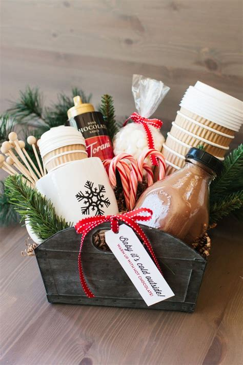 gift idea for cocoa gift basket bigdiyideas