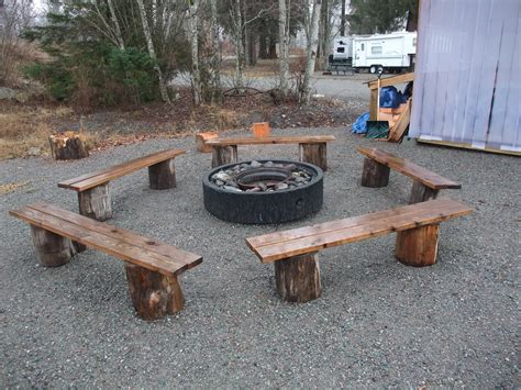 Firepit Bench I Like The Pit Benches My Firepit Is Made Of Stones Rustic Lol Yard N Garden
