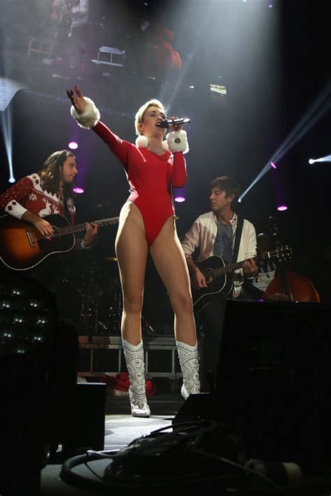 Miley Cyrus Dressed As Mrs Claus At The Jingle Ball Popsugar | miley cyrus dressed as mrs claus at the jingle ball