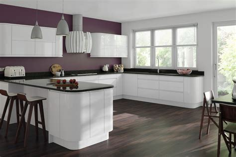 gloss white kitchen cabinets gemini white gloss handleless kitchen proline cabinets