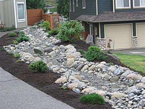river rock garden bed river rock garden bed
