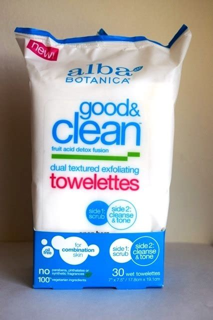 Alba Detox Wipes by Alba Botanica And Clean Dual Textured Exfoliating