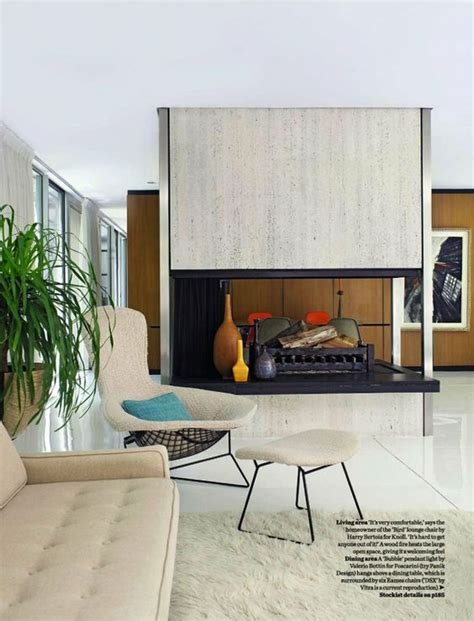 mid century fireplace mid century modern living interiors and furnishings