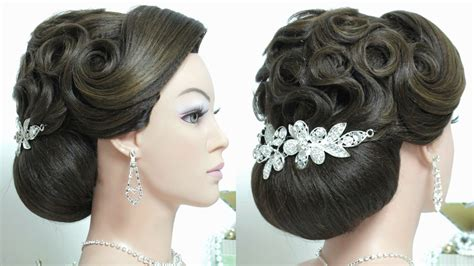 indian bridal hairstyles youtube indian bridal updo hairstyle tutorial for long hair