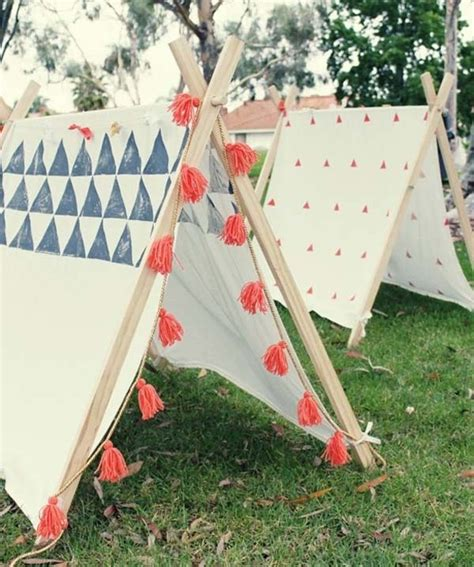 Back At The Tents by 16 Build Some Small Teepees For Backyard For The
