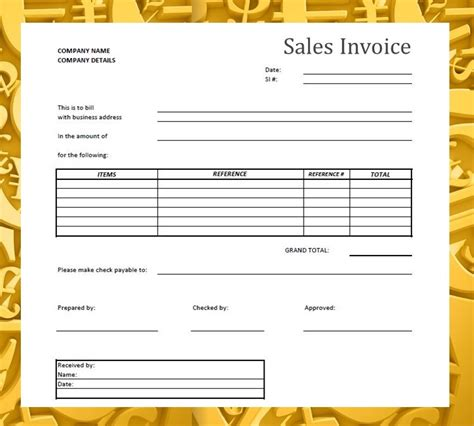 sle invoice of services forms documents needed for proper accounting