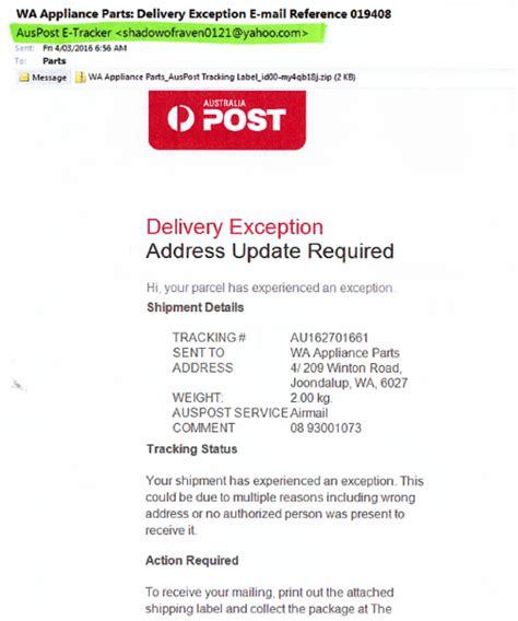 Address Australia Scam Alerts Australia Post