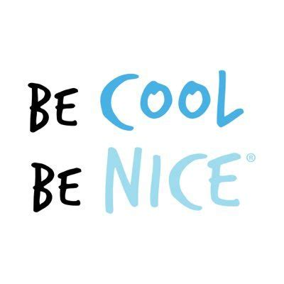 be cool be nice becool benice twitter