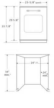 Dishwasher Height Guide Retro Dishwasher