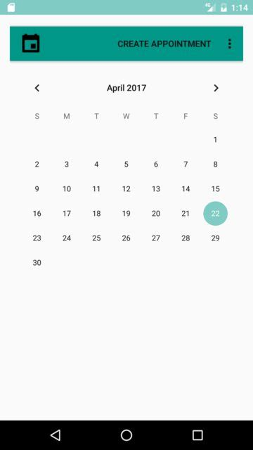 Calendar Api Android Calendarview Android Calendar View Different In Api 22