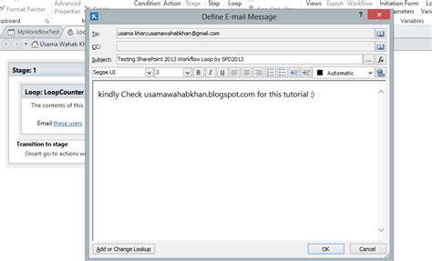 loop in sharepoint designer workflow 2010 usama wahab khan create sharepoint 2013 workflow loop by