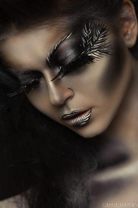 create hair sculptures black tatiana zolotashko makeup artist beautiful work