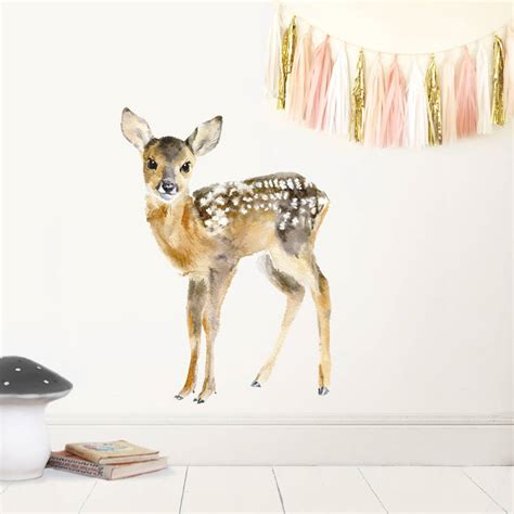 deer wall sticker baby deer wall sticker by chocovenyl notonthehighstreet