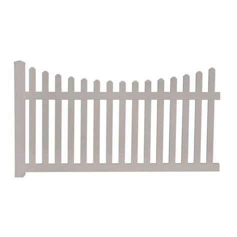 Picket Fence Sections Home Depot by Glendale 4 Ft H X 8 Ft W Vinyl Spaced Picket Unassembled