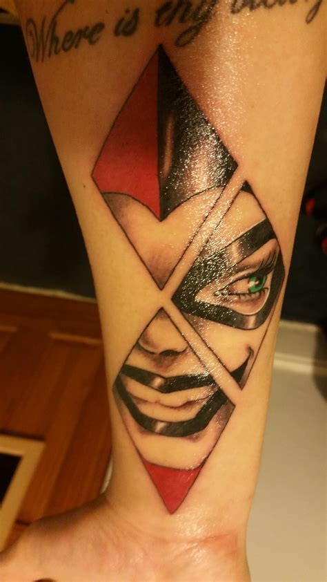 diamond tattoos nyc harley quinn by beaver nyc ink