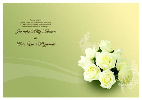wedding invitation card template stock vector image