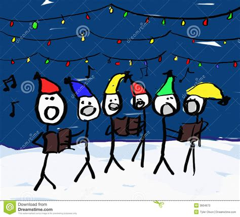 christmas carol singers stock illustration image of funny