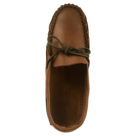mens wide moccasin slippers s wide width fit genuine leather soft sole