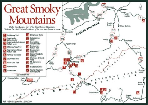 smoky mountains tennessee map sherpa guides tennessee the tennessee mountains