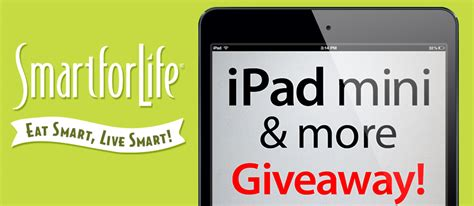 Ipad Giveaway Contest - smartforlife 2 7 smart for life 174 healthy and delicious protein bars and snacks